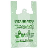 Green Herc 1/6 Size Biodegradable Plastic T-Shirt Bag - 500/Case