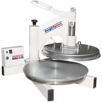 DoughXpress DMS-2-18 18 inch Dual Heated Manual Pizza / Tortilla Dough Press