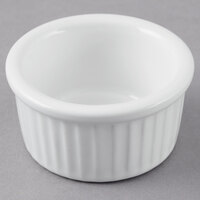 Greenware by Tuxton BWX-0252 White 2.5 oz. Fluted Ramekin - 12/Pack