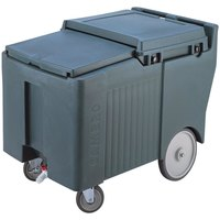 Cambro ICS125LB191 SlidingLid Granite Gray Portable Ice Bin - 125 lb. Capacity