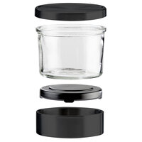 Cal-Mil 1851-5-13 Complete Black 32 oz. Glass Mixology Jar Set - 5 1/4 inch x 4 1/2 inch