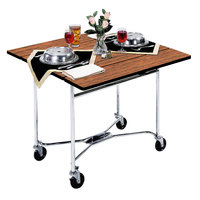 Lakeside 413 Mobile Square Top Room Service Table with Victorian Cherry Finish - 36 inch x 36 inch x 30 inch