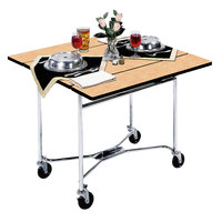 Lakeside 413 Mobile Square Top Room Service Table with Hard Rock Maple Finish - 36 inch x 36 inch x 30 inch
