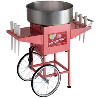 "Carnival King CCM21CT Cotton Candy Machine with 21"" Stainless Steel Bowl and Cart - 110V, 1050W"