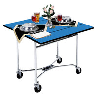 Lakeside 413 Mobile Square Top Room Service Table with Royal Blue Finish - 36 inch x 36 inch x 30 inch