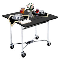 Lakeside 413 Mobile Square Top Room Service Table with Black Finish - 36 inch x 36 inch x 30 inch