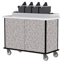 Lakeside 70410 Gray Sand Condi-Express 4 Pump Condiment Cart with (2) Cup Dispensers