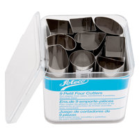 Ateco 2009 9-Piece Stainless Steel Petit Four Cutter Set