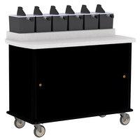 Lakeside 70420 Black Condi-Express 6 Pump Condiment Cart