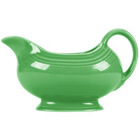 Homer Laughlin 486324 Fiesta Shamrock 18.5 oz. China Sauce / Gravy Boat - 4/Case