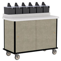Lakeside 70420 Beige Suede Condi-Express 6 Pump Condiment Cart