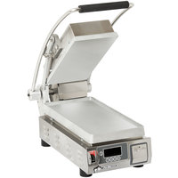 Star PST7E Pro-Max® 2.0 Single 9 1/2 inch Panini Grill with Smooth Aluminum Plates - Electronic Timer