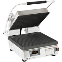 Star PGT28IE Pro-Max® 2.0 Single 28 inch Panini Grill with Grooved Cast Iron Plates - Electronic Timer
