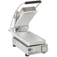Star PST7 Pro-Max® 2.0 Single 9 1/2 inch Panini Grill with Smooth Aluminum Plates - No Timer