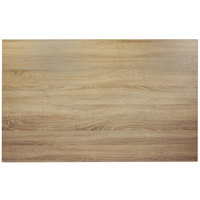 BFM Seating SO3048 Midtown 30 inch x 48 inch Rectangular Indoor Tabletop - Sawmill Oak Finish