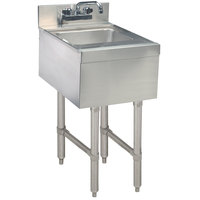Advance Tabco SL-HS-12 Stainless Steel Underbar Hand Sink with Splash Mount Faucet - 12 inch x 18 inch