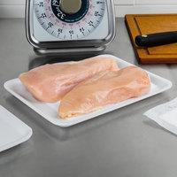 CKF 88134 (#34/4S) White Foam Meat Tray 9 1/4 inch x 7 1/4 inch x 1/2 inch - 125/Pack