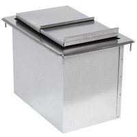 Advance Tabco D-12-IBL Stainless Steel Drop-In Ice Bin - 12 inch x 18 inch