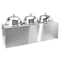 Eastern Tabletop 7003 9 Gallon Stainless Steel Insulated Triple Ice Cream Unit with Dome Lids