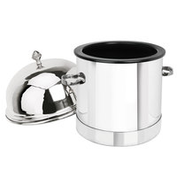 Eastern Tabletop 7001 3 Gallon Stainless Steel Insulated Single Ice Cream Unit with Dome Lid
