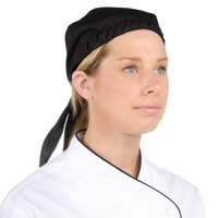 Chef Revival H020BK Black Chef Head Wrap