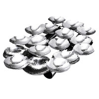Eastern Tabletop 9335 18 inch x 12 inch Stainless Steel Hors d'oeuvres Hammered Sectional Platter