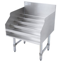 Advance Tabco LD-1824 Stainless Steel Liquor Display Rack - 24 inch x 23 inch
