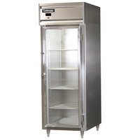 Continental Refrigerator DL1RE-SS-GD Designer Line 28 1/2 inch Glass Door Extra-Wide Reach-In Refrigerator