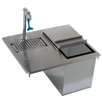 Advance Tabco D-24-WSIBL Stainless Steel Water Station with Ice Bin - 21 1/4 inch x 18 inch