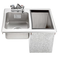 Advance Tabco D-24-SIBL Stainless Steel Drop-In Hand Sink with Ice Bin - 21 1/4 inch x 18 inch