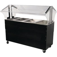 Advance Tabco B4-CPU-B-SB Four Well Everyday Buffet Ice-Cooled Table with Enclosed Base - Open Well