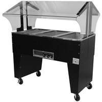 Advance Tabco B3-120-B Three Pan Everyday Buffet Hot Food Table with Open Base - Open Well
