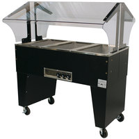 Advance Tabco B3-120-B Three Pan Everyday Buffet Hot Food Table with Open Base - Open Well, 120V