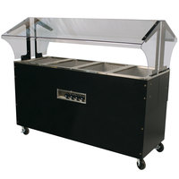 Advance Tabco B4-240-B-SB Four Pan Everyday Buffet Hot Food Table with Enclosed Base - Open Well, 208/240V