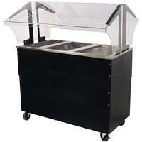 Advance Tabco B3-CPU-B-SB Three Well Everyday Buffet Ice-Cooled Table with Enclosed Base - Open Well