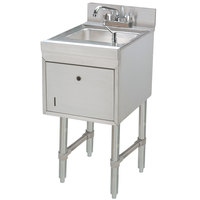 Advance Tabco SC-12-TS Stainless Steel Underbar Hand Sink with Soap / Towel Dispensers - 12 inch x 21 inch