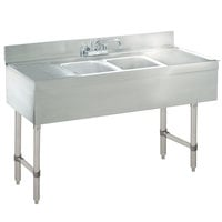 Advance Tabco CRB 42C Lite Two Compartment Stainless Steel Bar Sink With  Two 12 Inch