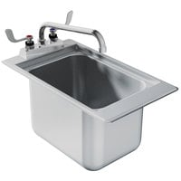 Advance Tabco DBS-1 One Compartment Stainless Steel Drop-In Bar Sink - 12 inch x 20 inch