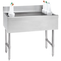 Advance Tabco CRI-12-42-7 Stainless Steel Underbar Ice Bin with 7-Circuit Cold Plate - 42 inch x 21 inch