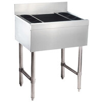 Advance Tabco SLI-16-24-7 Stainless Steel Underbar Ice Bin with 7-Circuit Cold Plate - 24 inch x 18 inch