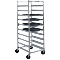 Lakeside 8585 Aluminum Oval Tray Cart with Univeral Ledges - 10 Tray Capacity