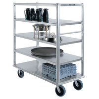Lakeside 4567 Aluminum Queen Mary Banquet Cart with 5 Shelves - 29 inch x 66 inch x 62 inch