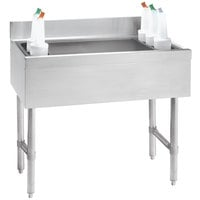 Advance Tabco CRI-16-24-7 Stainless Steel Underbar Ice Bin with 7-Circuit Cold Plate - 24 inch x 21 inch