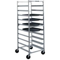 Lakeside 8580 Aluminum Oval Tray Cart for 22 inch x 26 7/8 inch Trays - 10 Tray Capacity