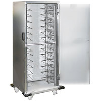 Lakeside 6538 7 Pan End Load Stainless Steel Enclosed Bun / Sheet Pan Rack with Universal Ledges - Assembled