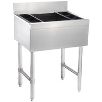 Advance Tabco SLI-16-30-7 Stainless Steel Underbar Ice Bin with 7-Circuit Cold Plate - 30 inch x 18 inch