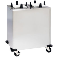 Lakeside S5207 Stainless Steel Enclosed Two Stack Non-Heated Plate Dispenser for 6 1/4 inch to 7 1/2 inch Square Plates