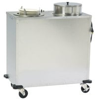 Lakeside E927 Enclosed Stainless Steel Adjust-a-Fit Heated Two Stack Plate Dispenser for 6 1/2 inch to 9 3/4 inch Plates