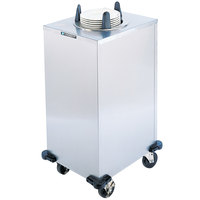 Lakeside 6111 Stainless Steel Enclosed Heated One Stack Plate Dispenser for 10 1/4 inch to 11 inch Plates