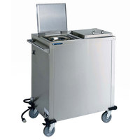 Lakeside 7500 Duo-Therm™ Stainless Steel Heated Two Stack Plate Dispenser for 7 inch to 10 1/4 inch Plates and Pellets